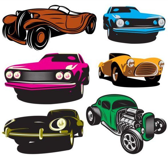 retro font colorati auto