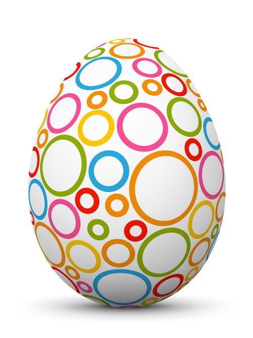 uovo Pasqua colorato anello