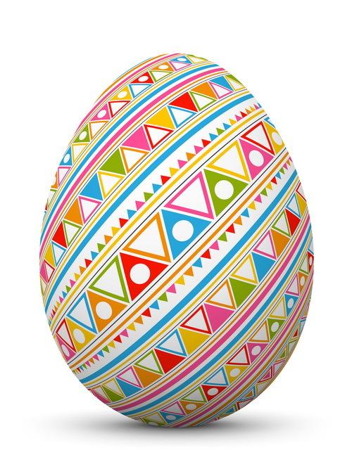 uovo senza giunte reticolo Pasqua colorato