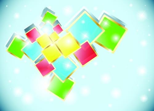 quadratisch farbig blau