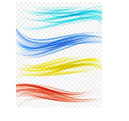 wellig Linien farbig
