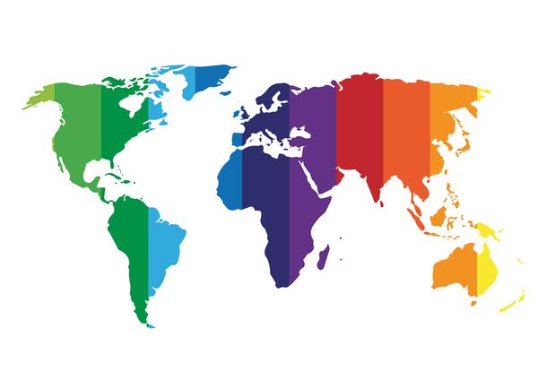 色付き 地図 世界