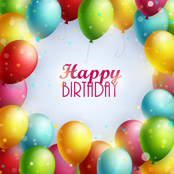 ram Födelsedag färgglada ballong