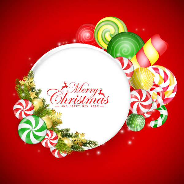 colorful christmas card candy
