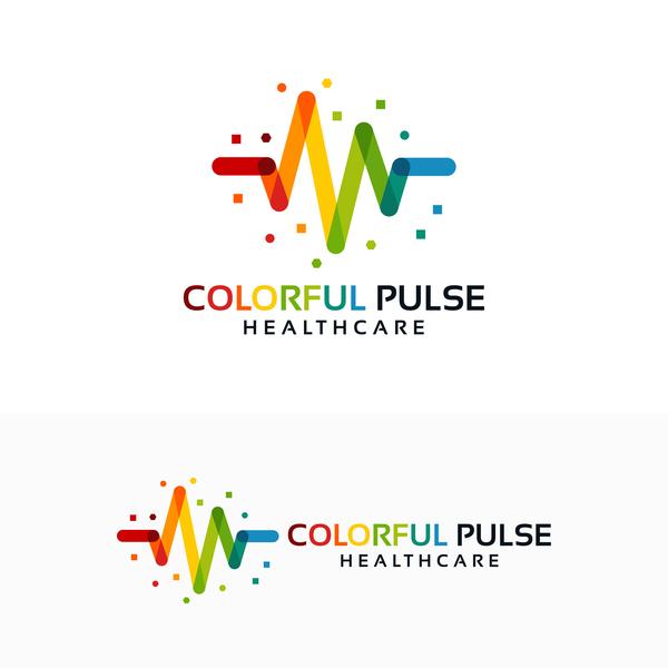 hälso-och sjukvård färgglada
