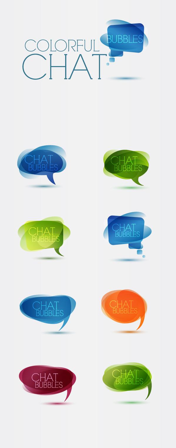 speech colorful bubbles