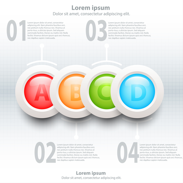 sujets infographie colorful Cercles