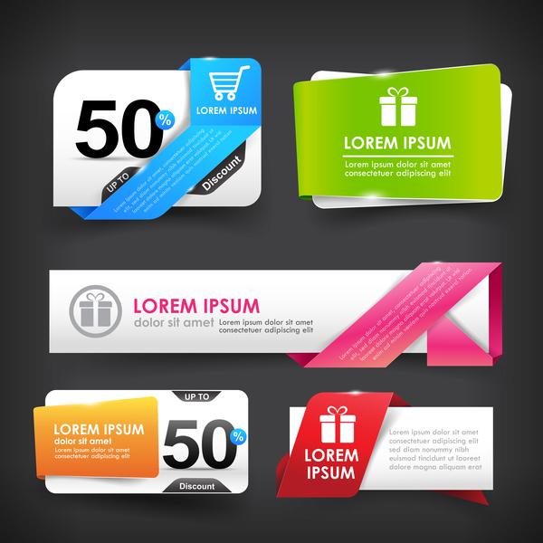 webb tagg Stil Rabatt marknadsföring försäljning färgglada banner