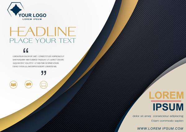 moderno coprire brochure azienda