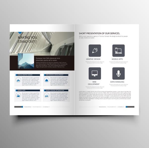 tidningen omslag företag broschyr