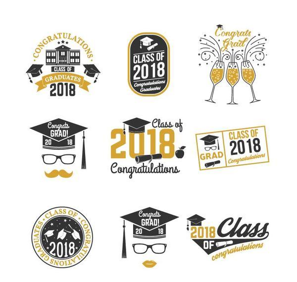 grad etichette Congratulazioni 2018