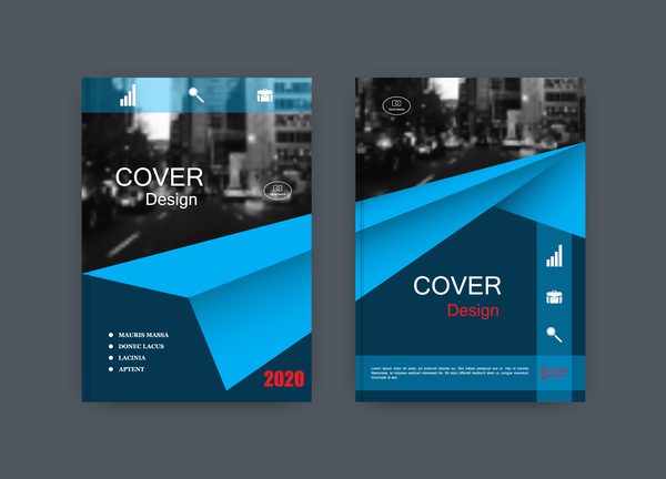 couverture corporate brochure bleu