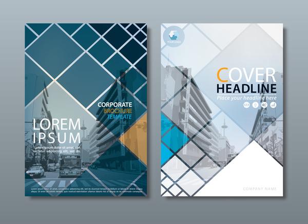 omslag corporate broschyr blå