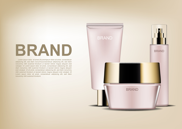 Rosa kosmetiska annonser affisch