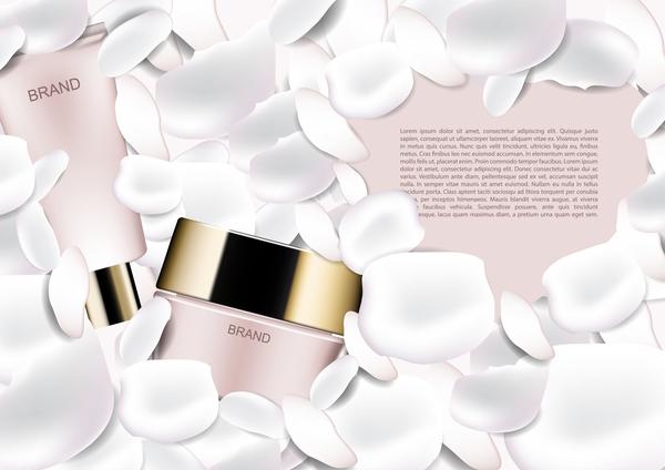Werbung weiß poster Kosmetik Blütenblätter