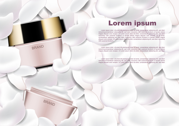 vit kronblad kosmetiska annonser affisch