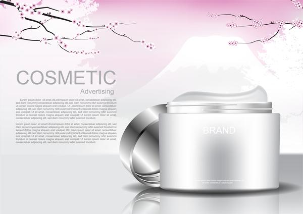 Werbung poster Kosmetik Kirsche erblüht