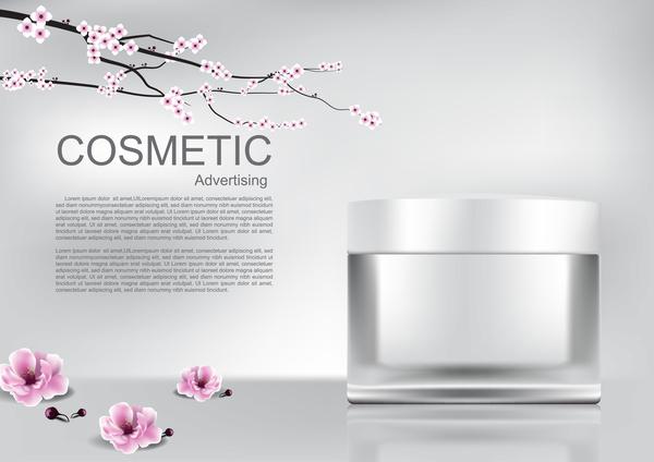 Pubblicità poster fiori cosmetico ciliegio