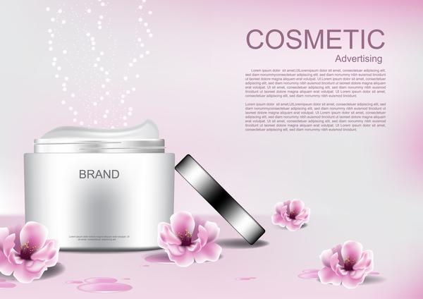 Rosa reklam kosmetiska Blomma affisch
