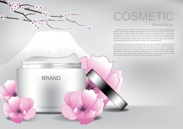 Werbung Rosa poster Kosmetik Blume
