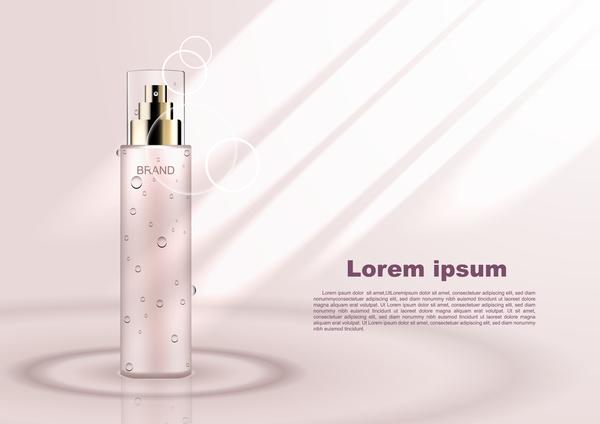 poster cosmétique beige