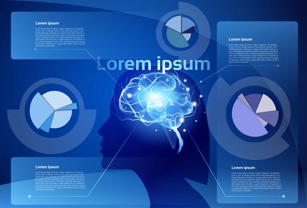 infografica Creativo cervello