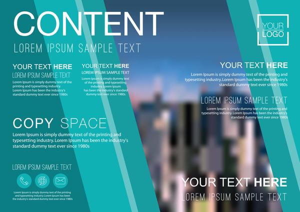 flyer Creativo copertura brochure aziendali