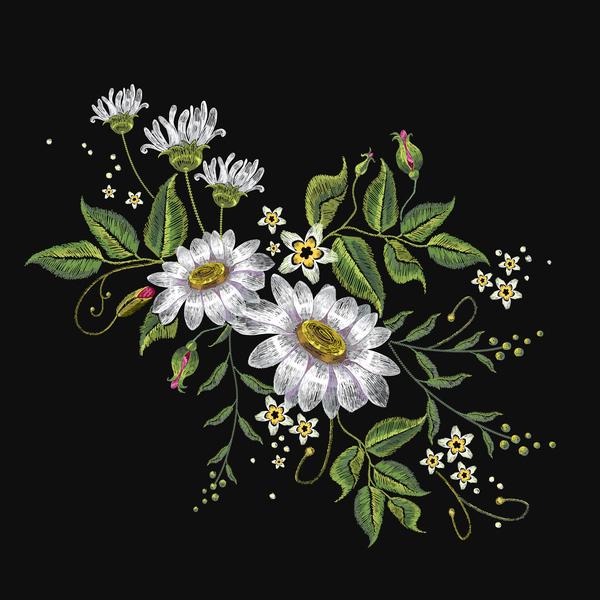 花 刺繍 クリエイティブ