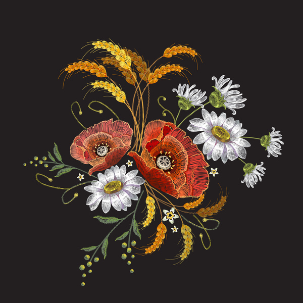 flowers embroidery creative