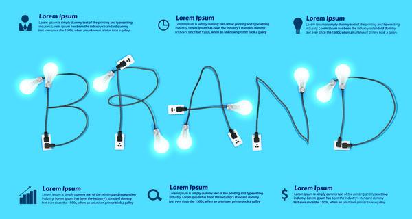 Licht Glühbirne creative business