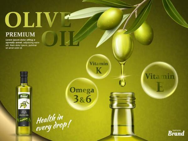 olive huile Creation Affiche
