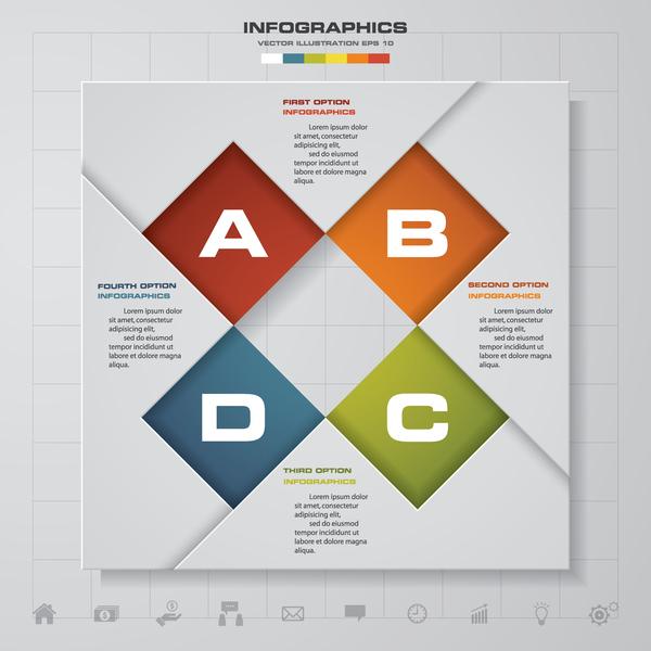 紙 クリエイティブ インフォグラフィック