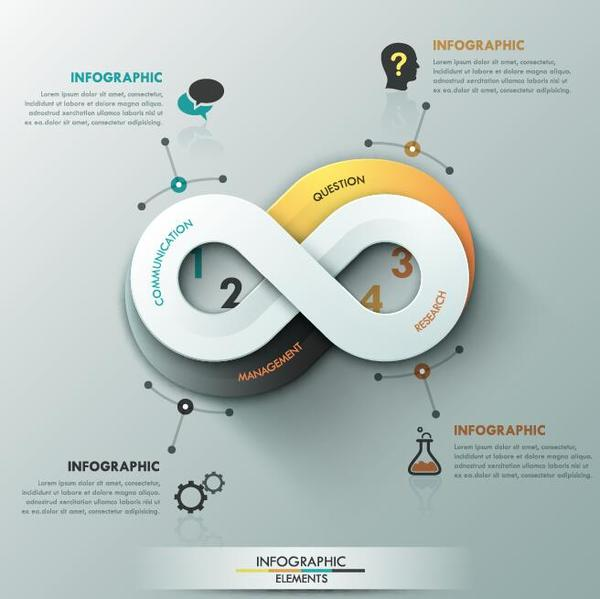 rond moderne infographie Creation