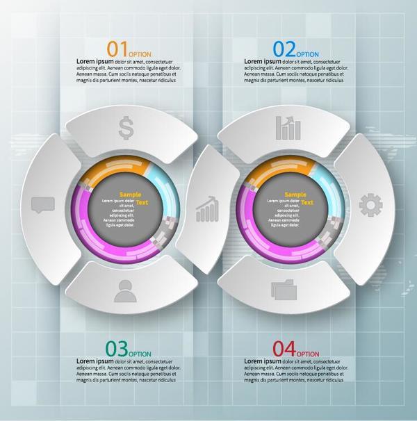 ラウンド モダン クリエイティブ インフォグラフィック