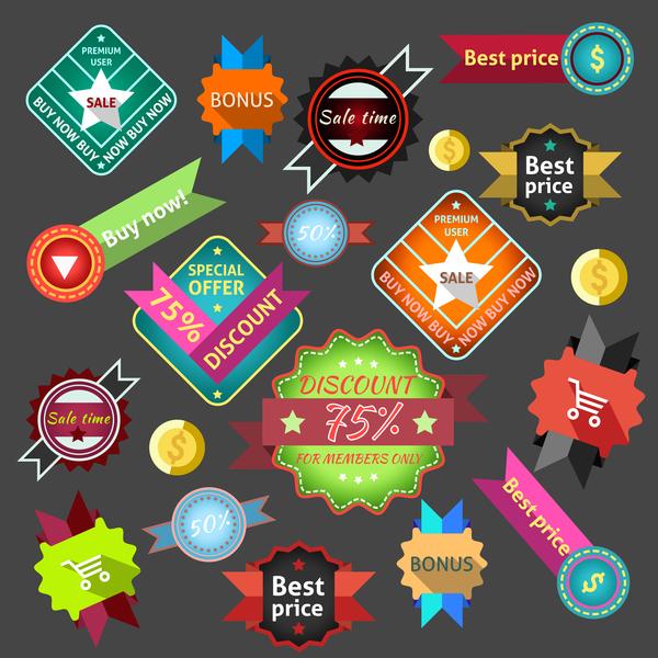 Kreativ klistermärke försäljning etiketter