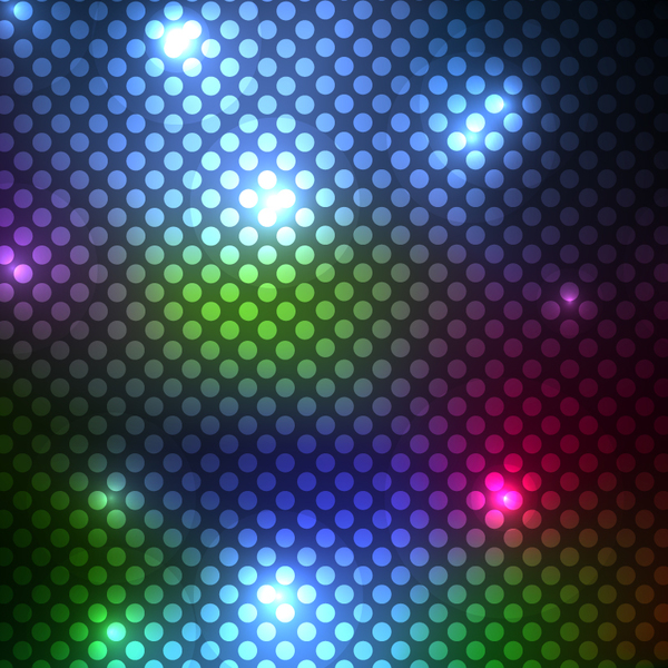 pattern light cricles colorful