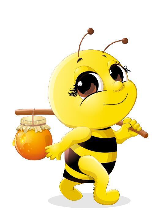 Niedlich cartoon Biene baby