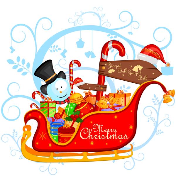 cute christmas cartoon carte