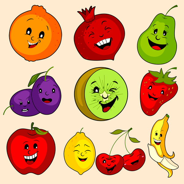 fruits cute cartoon