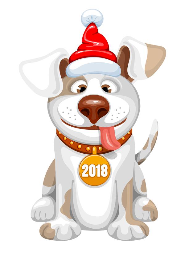 Nuovo cute cane anno 2018