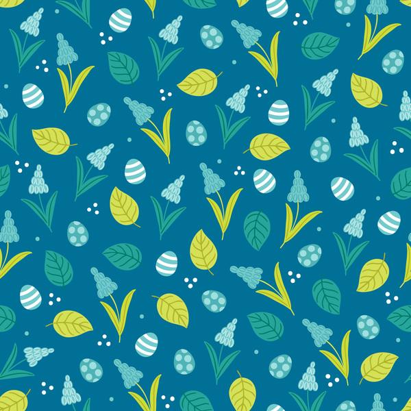 seamless pattern easter cute