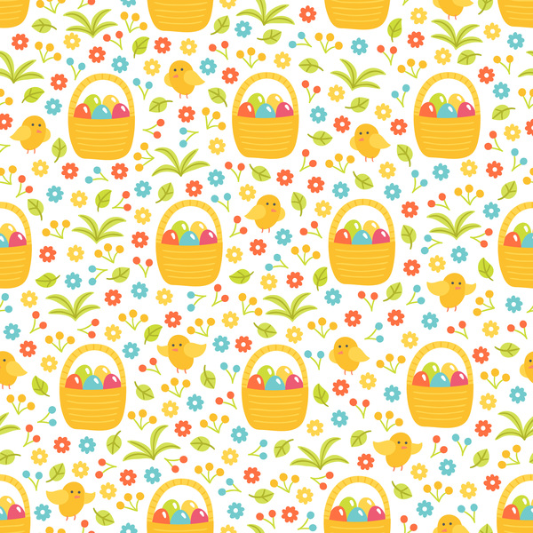 seamless pattern easter cute