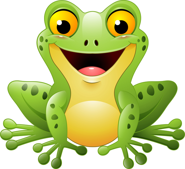 grenouille mignon dessin animé