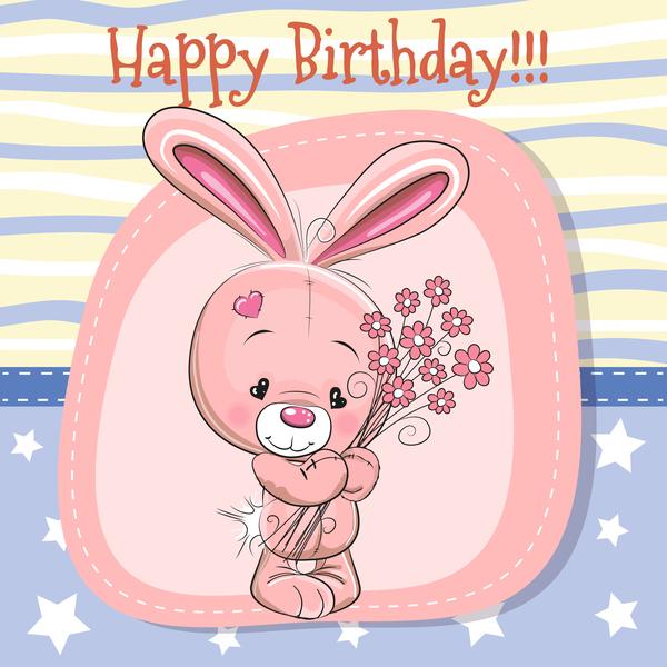Söt kort Glad Födelsedag baby