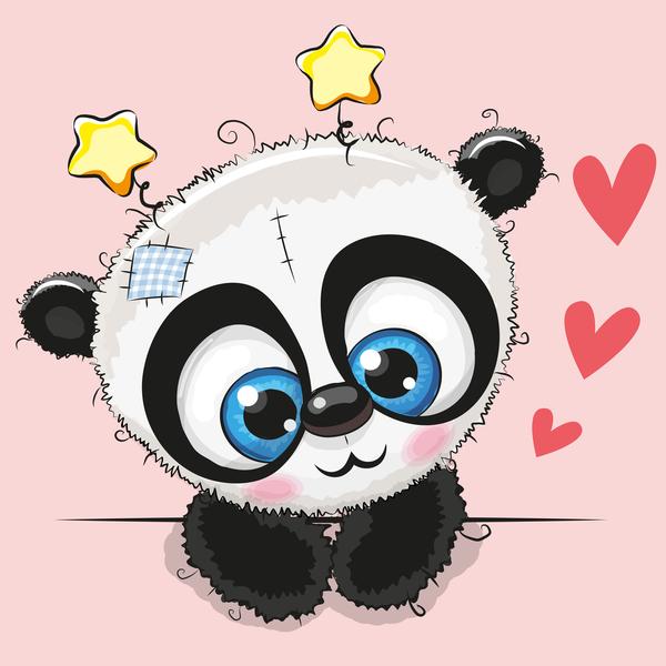 panda happy cute carte Anniversaire