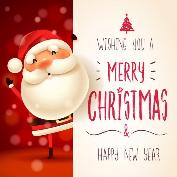 署名 サンタ クリスマス かわいい カード