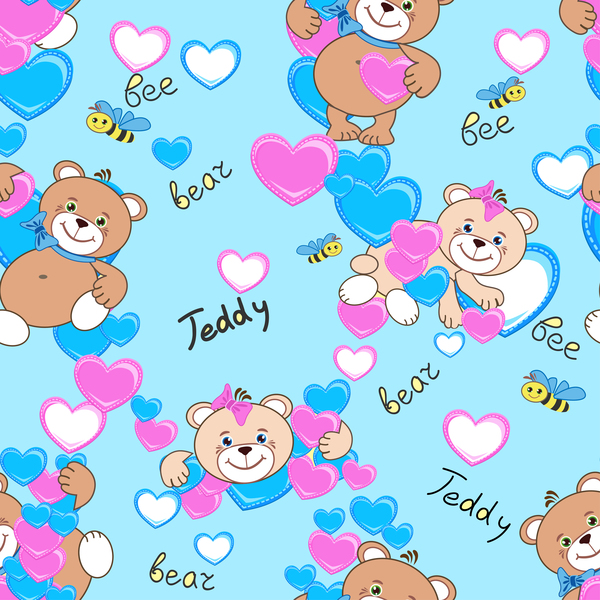 trägt teddy Niedlich nahtlos Muster
