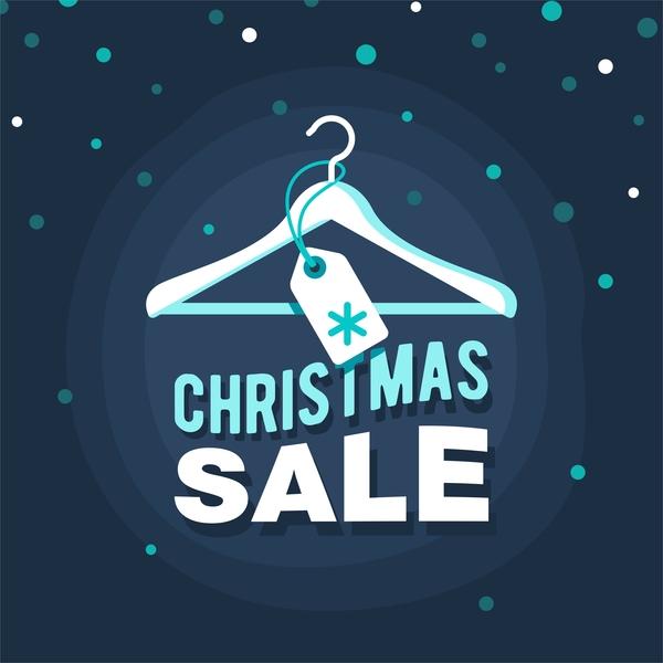 Weihnachten Verkauf dunkel blau
