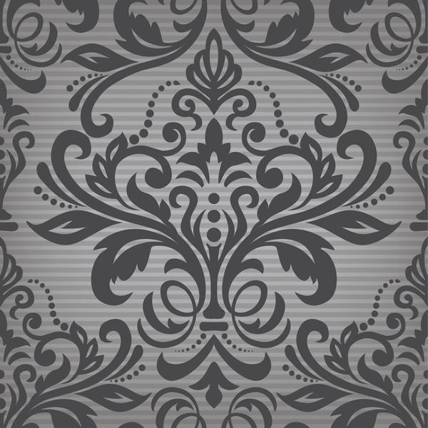 vintage Muster dunkel Damast