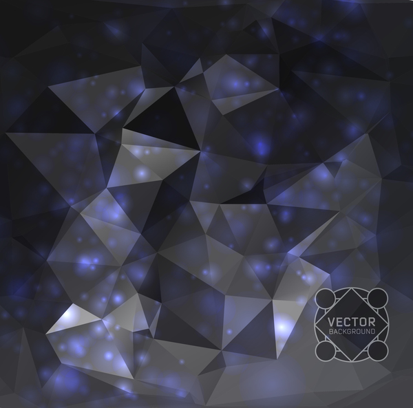 polygone lumière dots dark